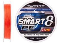 Fir textil Favorite Smart PE 8X Red Orange 150m