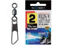 Agrafa cu vartej Sunset ST-S-3001 Rolling Safety Snap