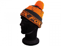Caciula Fox Black and Orange Lined Bobble