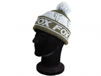 Caciula Fox Green and Silver Lined Bobble