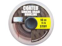 Asso Coated Stiff Sinking Braid Hooklink 10m