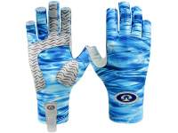 Manusi Flying Fisherman Sunbandit Pro Series Gloves Blue Water