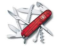 Multifunctional Victorinox Huntsman Transparent Red