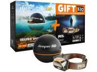 Sonar Deeper Pro+ Fishfinder + lanterna Petzl Tikka