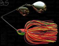 Spinnerbait Berti Gigant B&S Colorado 17g Orange Rosu Chartreuse