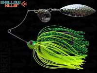 Spinnerbait Berti Shallow Killer 11g Colorado-Salcie / Chartreuse Lime Tiger