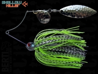 Spinnerbait Berti Shallow Killer 11g Colorado-Salcie / White-Black Chartreuse