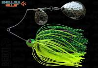 Spinnerbait Berti Shallow Killer Colorado 11g Chartreuse Lime Tiger