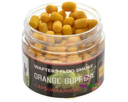 220 Baits Fluo Smoke Wafters 6mm Orange Strawberry and Honey