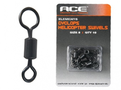 Ace Cyclops Helicopter Swivels sz 8