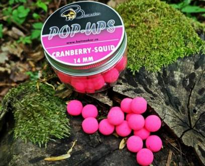 Baitmaker Cranberry Squid Pop-ups