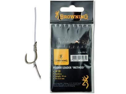 Carlige legate Browning Pin Feeder Leader Method