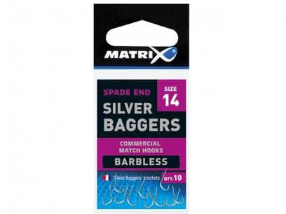 Carlige Matrix Silver Baggers Barbless