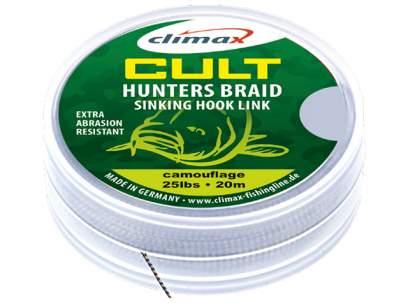 Climax Cult Carp Hunters Braid Sinking Hook Link 20m Gravel
