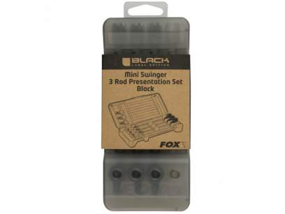 Fox Black Label Mini Swinger 3 Rod Set Black