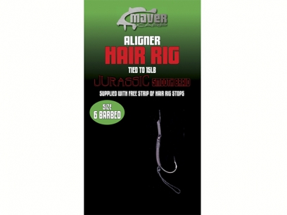 Maver Long Shank Coated Braid Hair Rig