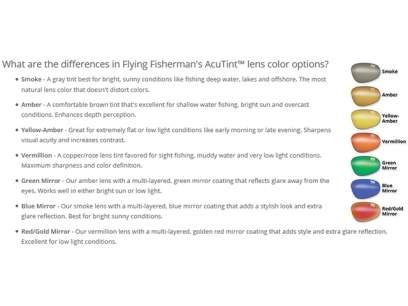 Ochelari Flying Fisherman Magnum Crystal Rust Amber
