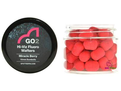 Pelete Spotted Fin GO2 Hi-Viz Fluoro Wafter Miracle Berry Pellet 10mm