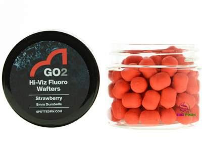 Pelete Spotted Fin GO2 Hi-Viz Fluoro Wafter Strawberry Pellet 8mm