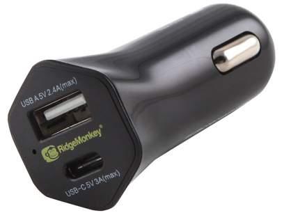 RidgeMonkey Vault 15W USB-C Car Charger Adaptor