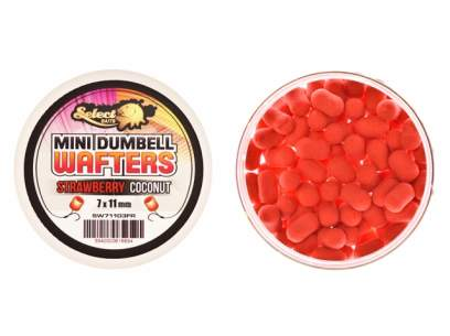 Select Baits Mini Dumbells Wafters Strawberry and Coconut