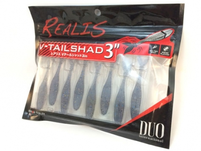"""Duo Realis V Tail Shad 4/"""" Color F011 Ghost Pearl//Silver Flakes"""
