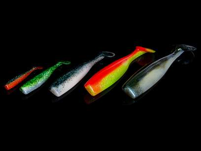 Shad Lunker City Shaker 8cm Bubblegum Chartreuse Flash 164